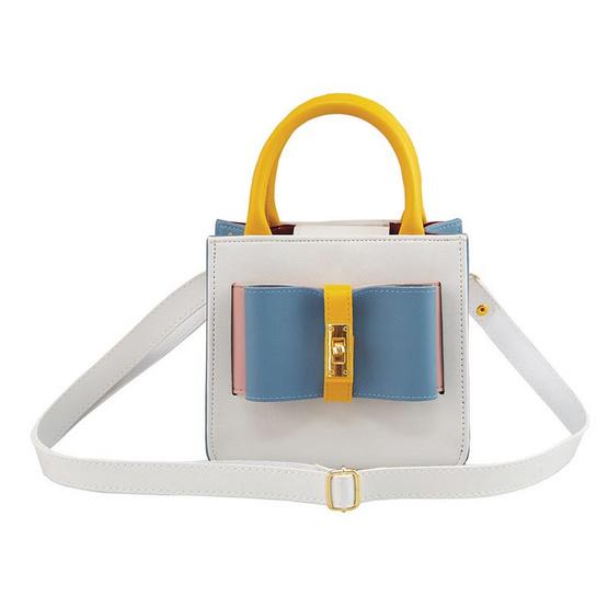 HQ LUGGAGE กระเป๋าสตรี กระเป๋าถือ กระเป๋าสะพายพาดลำตัว รุ่น S005 (สีฟ้า)