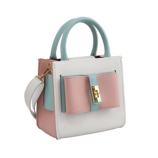 HQ LUGGAGE กระเป๋าสตรี กระเป๋าถือ กระเป๋าสะพายพาดลำตัว รุ่น S005 (สีชมพู)