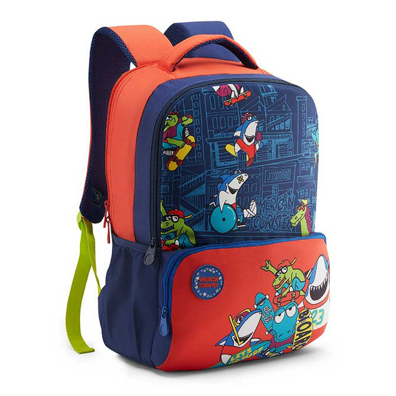 American Tourister กระเป๋าเด็ก DIDDLE BACKPACK 02 BLUE/ORANGE