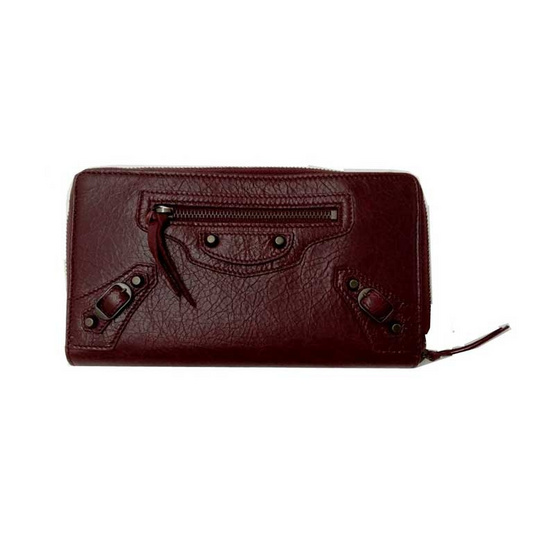 BALENCIAGA ZIP AROUND LONG WALLET (RED)