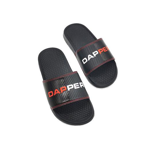 DAPPER รองเท้า รุ่น Carbon Cushioned Black Pool Slide Sandals
