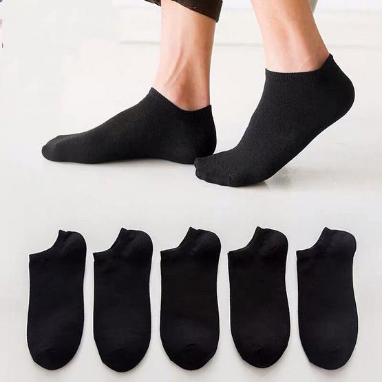 ถุงเท้าข้อสั้น สีดำ 10 คู่