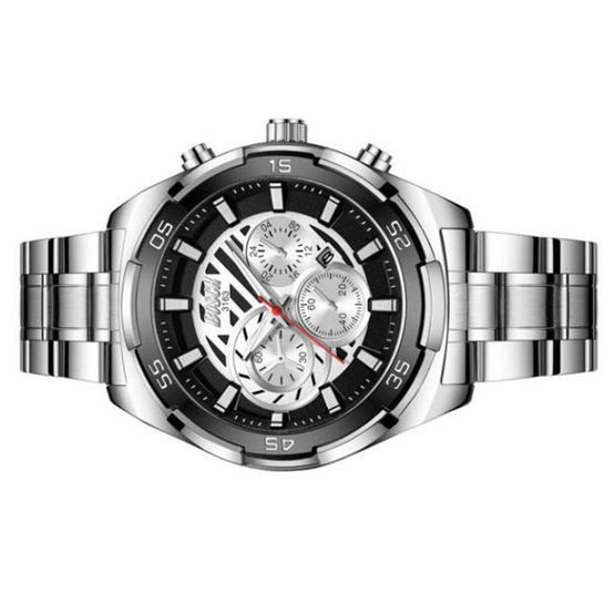 BOSCK นาฬิกาข้อมือ รุ่น  BO3163-SI/BK