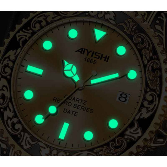 AIYISHI นาฬิกาข้อมือ รุ่น AY1665-GO/BK