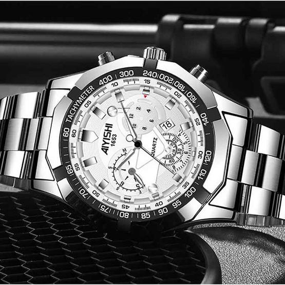 AIYISHI นาฬิกาข้อมือ รุ่น AY1653-SI/WH