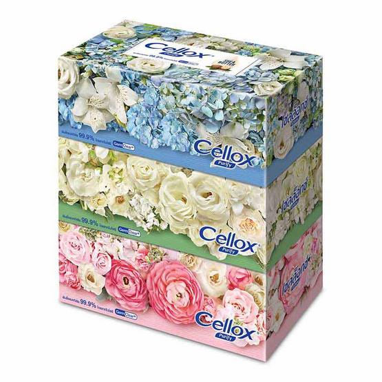 เซลล็อกซ์ ฟลาวเวอร์ กระดาษเช็ดหน้า แบบกล่อง 140 แผ่น แพ็ก 3 กล่อง