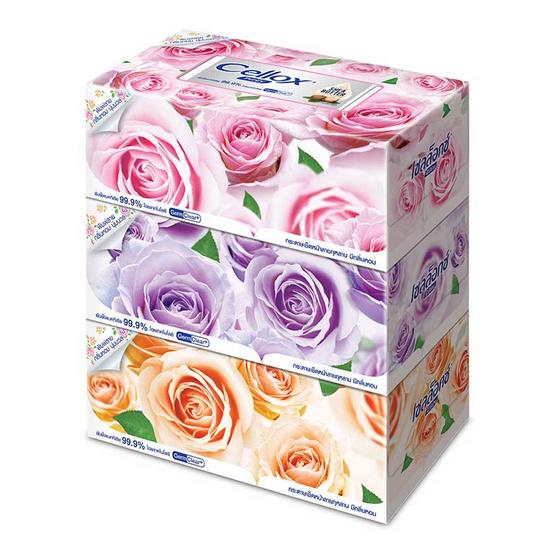 เซลล็อกซ์ โรซี่ กระดาษเช็ดหน้า แบบกล่อง 140 แผ่น แพ็ก 3 กล่อง