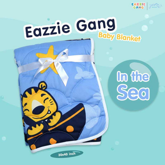 Josoco ผ้าห่มนวมเด็ก Eazzie Gang in The Sea 30x40 นิ้ว