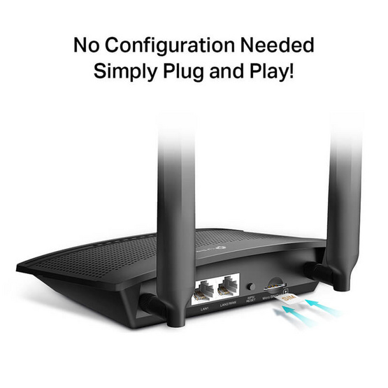 TP-Link เราเตอร์ TL-MR100 300 Mbps Wireless N 4G LTE Router