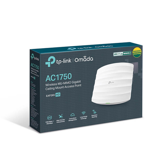TP-Link อุปกรณ์กระจายสัญญาณ EAP265 HD AC1750 Wireless MU-MIMO Gigabit Ceiling Mount Access Point