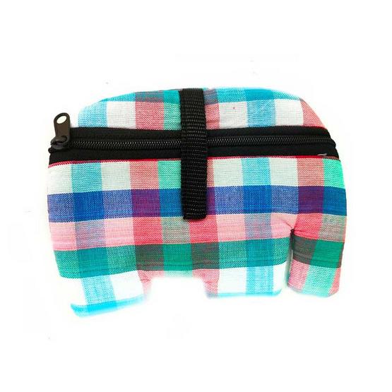 กระเป๋าใส่เศษเหรียญช้าง (คละสี, คละลาย)