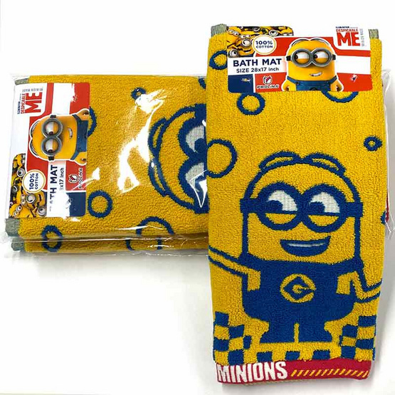 Frolina ผ้าเช็ดเท้า ทอลายลิขสิทธิ์แท้ Minions ลาย Bello Minions ขนาด 17x28 นิ้ว
