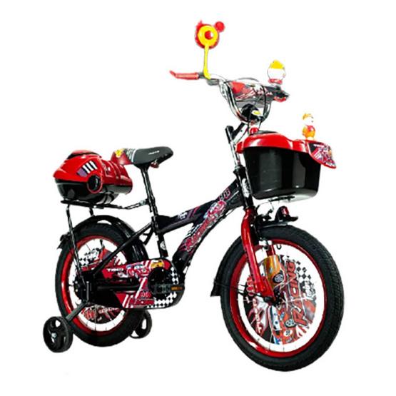"TIGER จักรยาน รุ่น Kids bike16"" มีล้อพยุงสองข้างสำหรับเด็กหัดปั่น BK/RD"