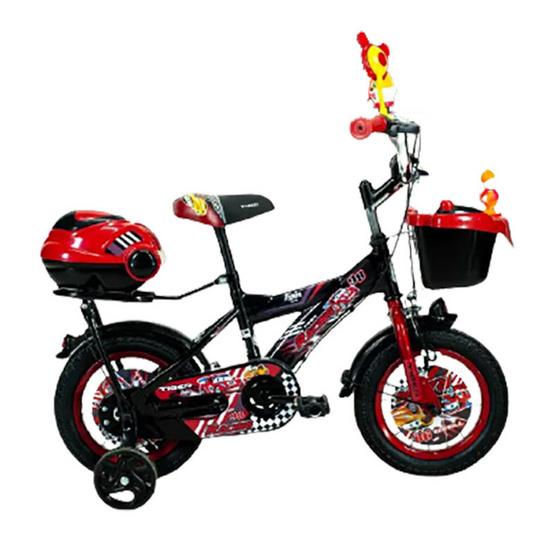 "TIGER จักรยาน รุ่น Kids bike12"" มีล้อพยุงสองข้างสำหรับเด็กหัดปั่น BK/RD"