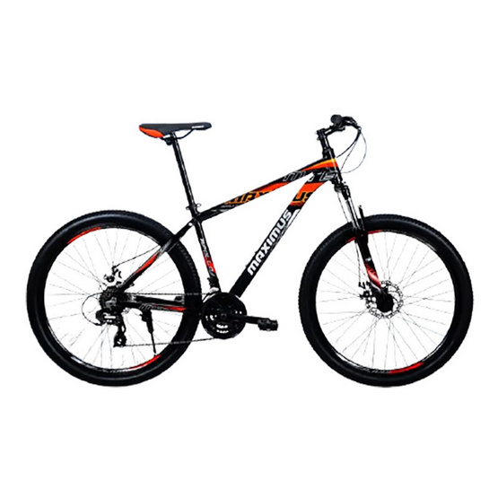 Maximus จักรยานเสือภูเขาเฟรมอลูซ่อนสาย รุ่น APOLLO 24 สปีด ล้อ 27.5 นิ้ว BK/RD