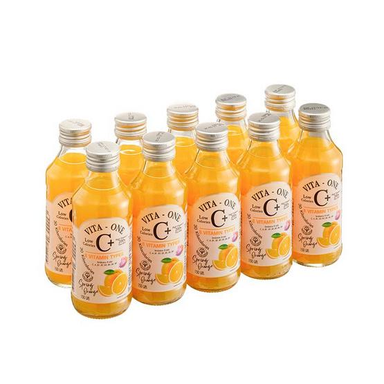 ไวต้าวัน วิตามินซีผสมวิตามินรวม รสส้ม 150 มล. (แพ็ก 10 ขวด)