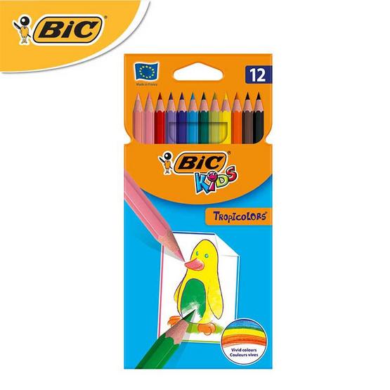 BIC Kids ดินสอสีไม้ Tropicolors 12 สี