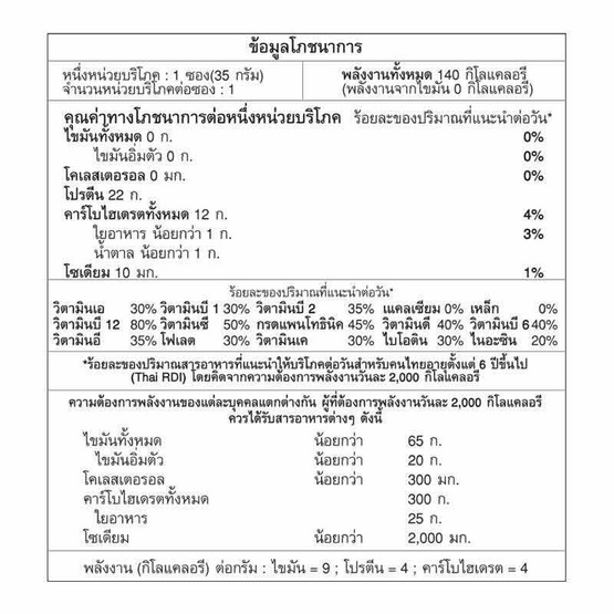 FIT ฟิตเวย์ รสมิกซ์เบอร์รี่ บรรจุ 10 ซอง (35 กรัม/ซอง)