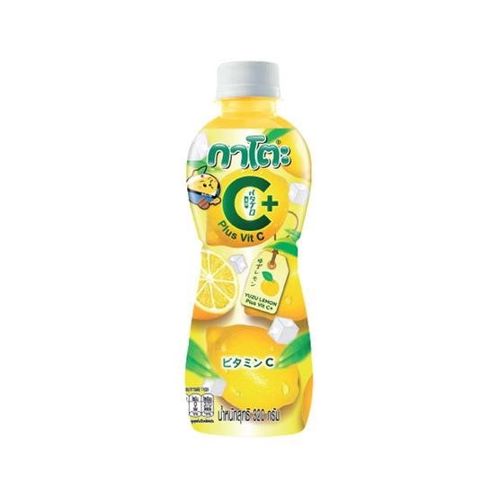 กาโตะ กลิ่นส้มยูซุผสมเลมอนและวิตามินซี 320 มล. (ยกลัง 24 ขวด)