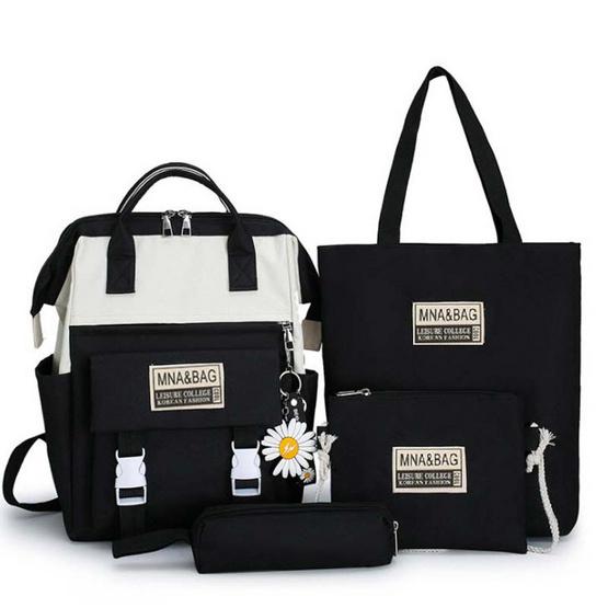 Fancybag Bag กระเป๋าเป้ SET 4 ใบ สีดำ