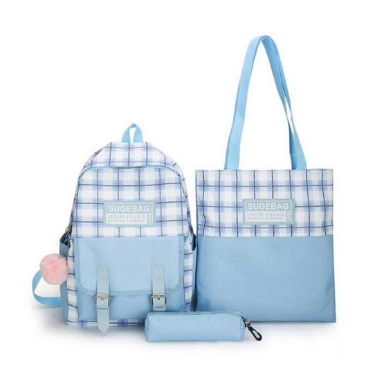 Fancybag Bag กระเป๋าเป้ SET 3 ใบ สีฟ้า