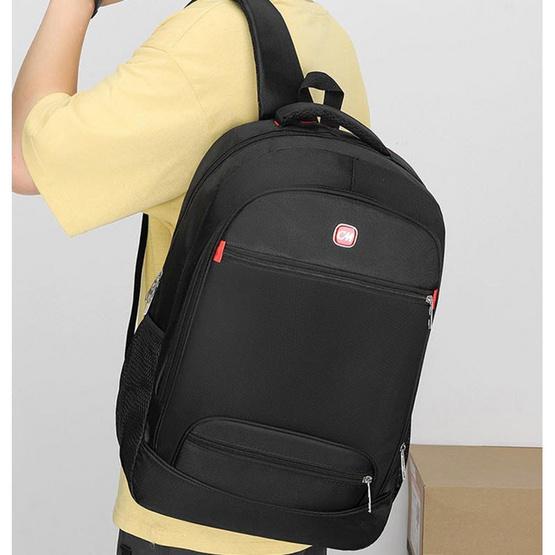 Fancybag กระเป๋าเป้ Nylon สีดำ-แดง