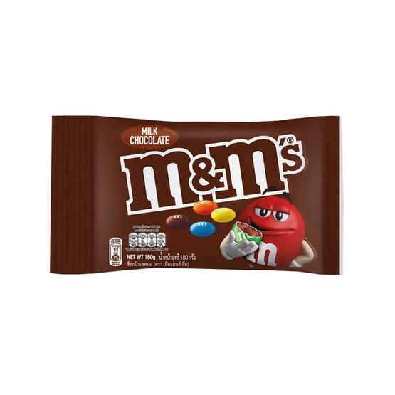 เอ็ม&เอ็ม เพลนมิลค์ ช็อกโกแลต 180 กรัม