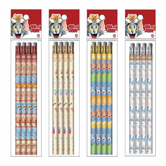ดินสอไม้ HB TOM&JERRY แพ็ก4แท่ง คละลาย (4 แพ็ก)