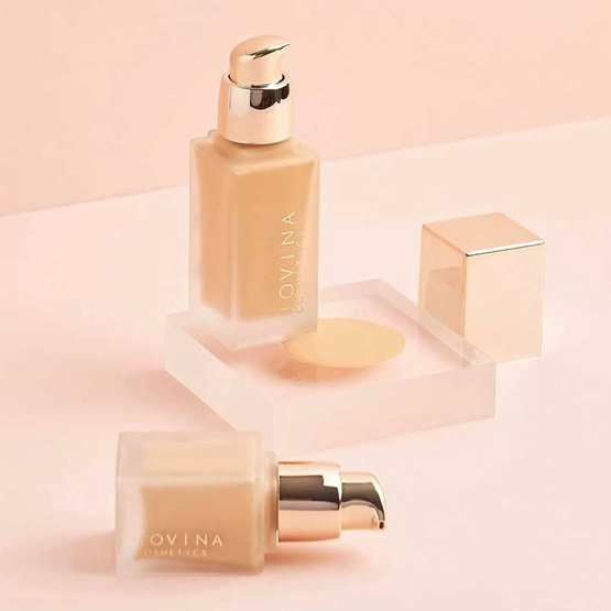 JOVINA รองพื้น Airy Foundation For all Skin Types SPF50 PA+++ 15 กรัม #01