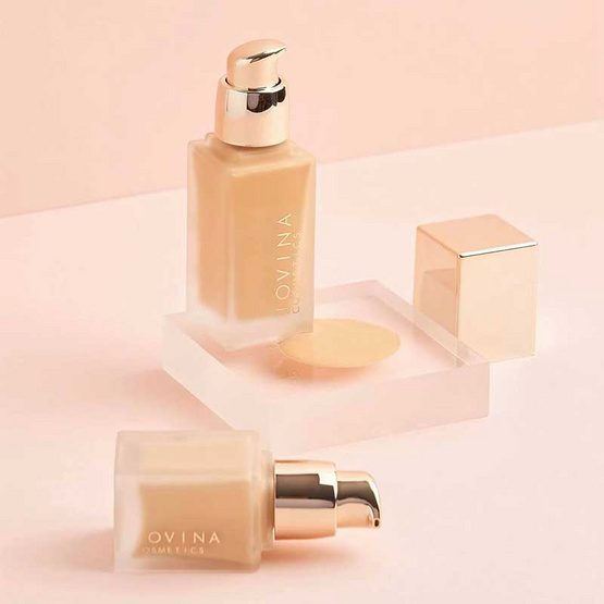 JOVINA รองพื้น Airy Foundation For all Skin Types SPF50 PA+++ 30 กรัม #02