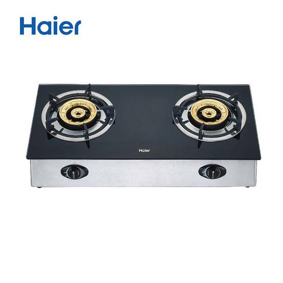 Haier เตาแก๊ส รุ่น HGH-TG751 ชนิดตั้งโต๊ะ หัวเตาทองเหลือง จำนวน 2 หัว