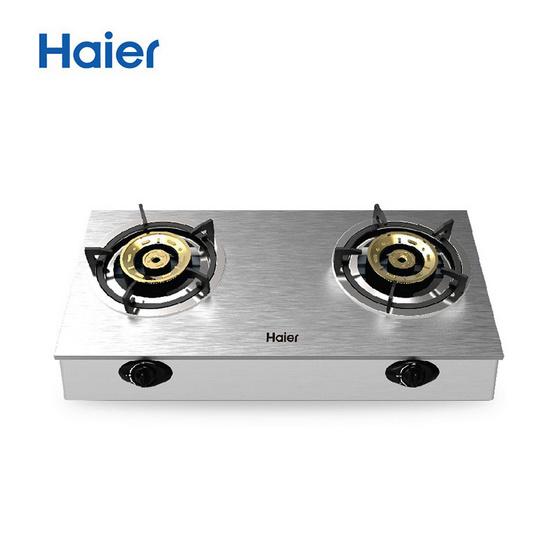 Haier เตาแก๊ส รุ่น HGH-TS754 ชนิดตั้งโต๊ะ หัวเตาทองเหลือง จำนวน 2 หัว