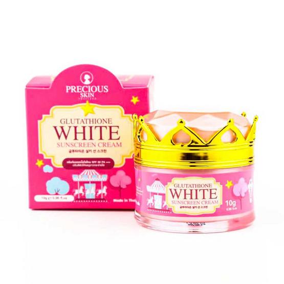 Precious Skin ครีมกันแดด Glutathione White Sunscreen Cream SFP 50 PA+++ 10 กรัม
