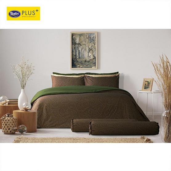 Satin Plus Luckyme ชุดผ้าปูที่นอน 5 ฟุต 5 ชิ้น ลาย LK019