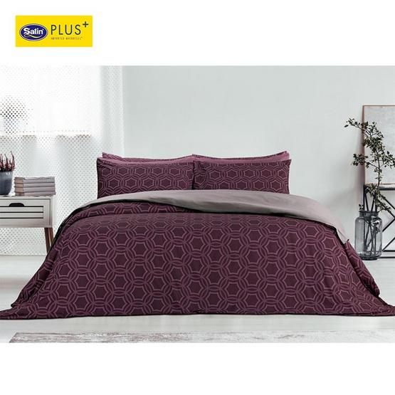 Satin Plus Luckyme ชุดผ้าปูที่นอน 6 ฟุต 5 ชิ้น ลาย LK013