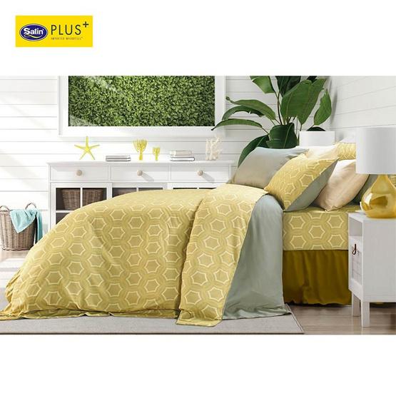 Satin Plus Luckyme ชุดผ้าปูที่นอน 6 ฟุต 5 ชิ้น ลาย LK014