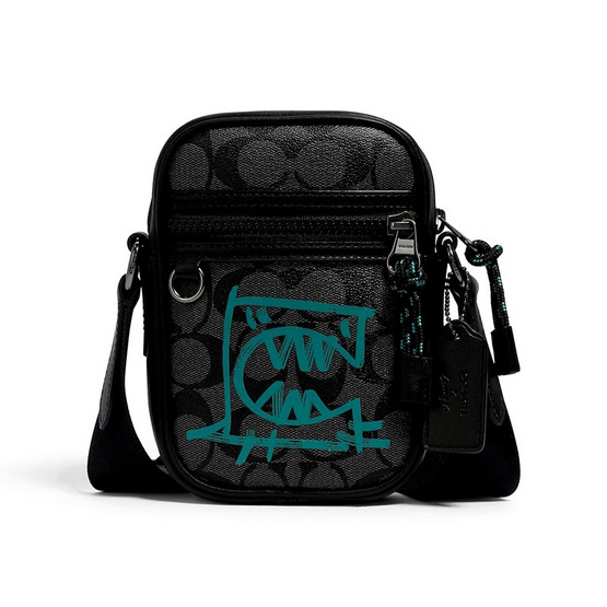 TERRAIN CROSSBODY IN SIGNATURE CANVAS WITH REXY BY GUANG YU (QBR31)