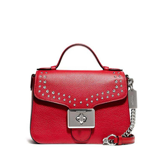 COACH 76689 CASSIDY TOP HANDLE CROSSBODY WITH RIVETS (SVP4Z)