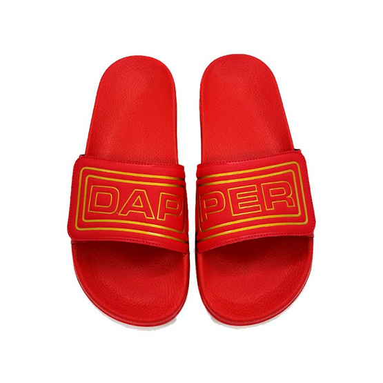 DAPPER รองเท้า รุ่น Red Velcro Strap Slide Sandals