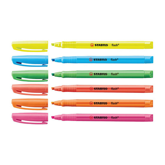 STABILO 1แถม1 ปากกาเน้นข้อความ Flash (แพ็ก3ด้าม)