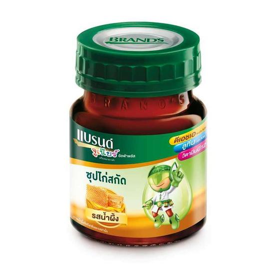 แบรนด์จูเนียร์ ซุปไก่สกัด รสน้ำผึ้ง 42 มล. (แพ็ก 12 ขวด)