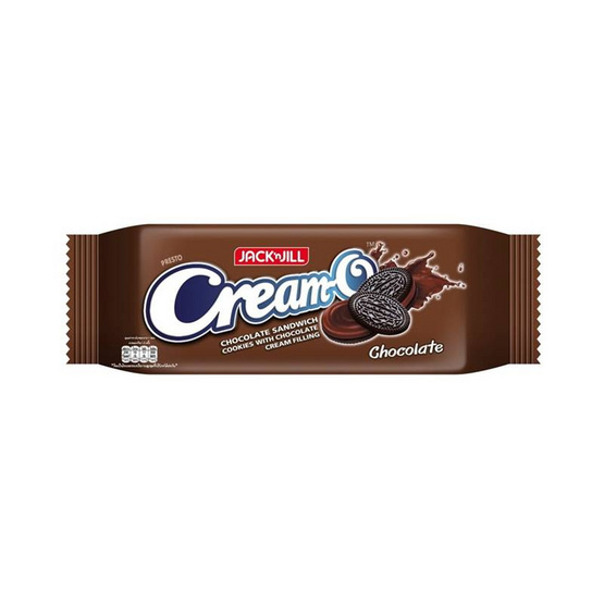 ครีมโอ คุกกี้แซนวิชรสช็อกโกแลตสอดไส้ครีมช็อกโกแลต 45 กรัม (แพ็ก 12 ชิ้น)