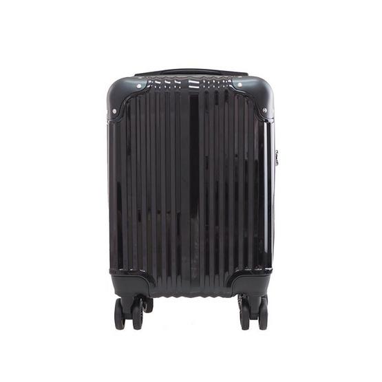 HQ LUGGAGE กระเป๋าเดินทาง PC ระบบล็อค TSA 4 ล้อคู่ รุ่น 8845 - 16 นิ้ว (สีดำ)