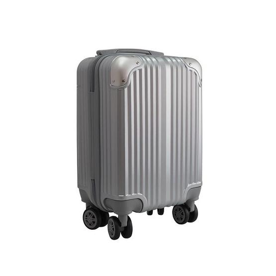 HQ LUGGAGE กระเป๋าเดินทาง PC ระบบล็อค TSA 4 ล้อคู่ รุ่น 8845 - 16 นิ้ว (สีเงิน)