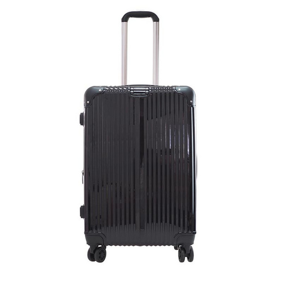 HQ LUGGAGE กระเป๋าเดินทาง PC ระบบล็อค TSA 4 ล้อคู่ รุ่น 8845 - 25 นิ้ว (สีดำ)