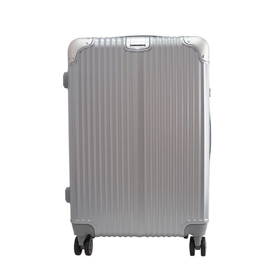 HQ LUGGAGE กระเป๋าเดินทาง PC ระบบล็อค TSA 4 ล้อคู่ รุ่น 8845 - 25 นิ้ว (สีเงิน)