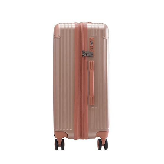 HQ LUGGAGE กระเป๋าเดินทาง PC ระบบล็อค TSA 4 ล้อคู่ รุ่น 8845 - 25 นิ้ว (สีชมพู)