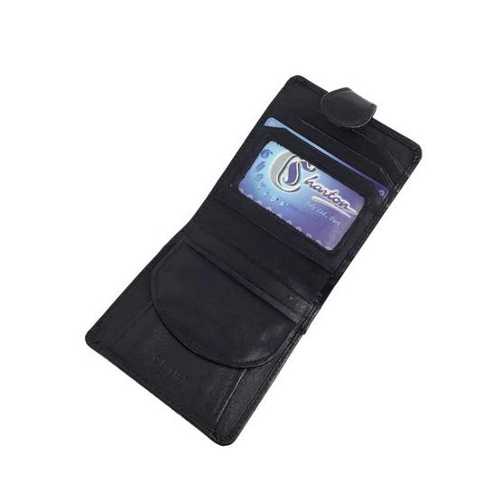 Charton กระเป๋าใส่ธนบัตรหนังแท้ 1923 สีดำ
