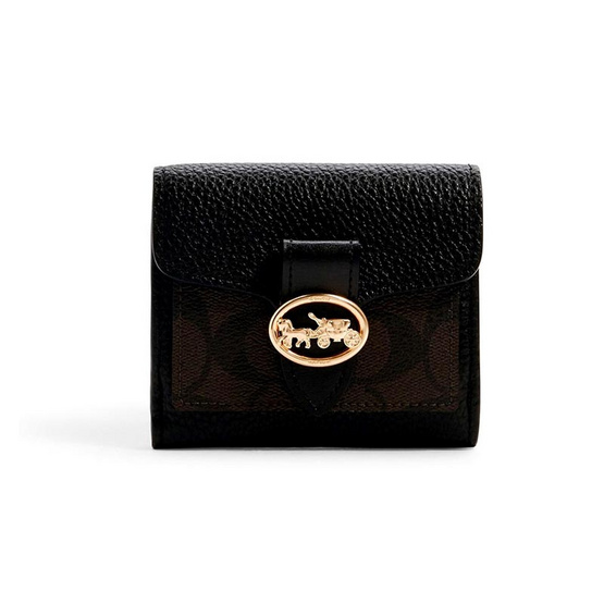COACH 7250 GEORGIE SMALL WALLET IN SIGNATURE CANVAS (IMAA8)