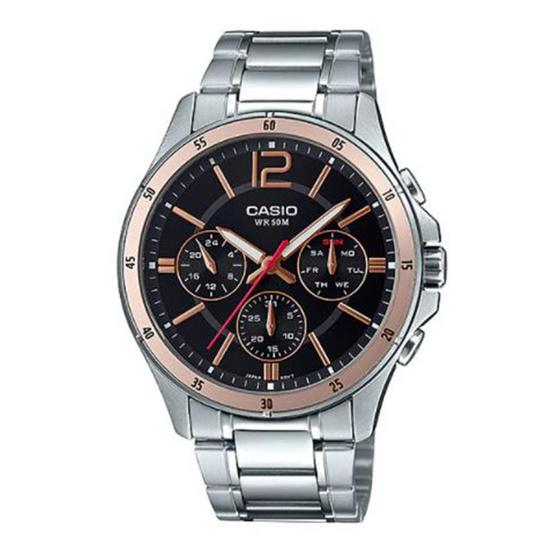 Casio นาฬิกาข้อมือ รุ่น MTP-1374D-1A2V